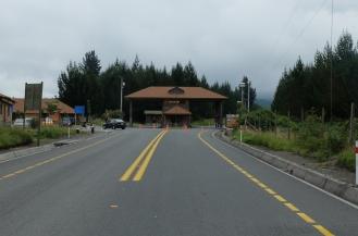 L'entrée du parc Cotopaxi